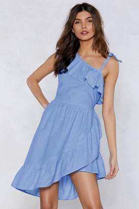 Nasty Gal Side With Me Ruffle Dress