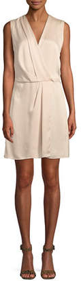 Rag & Bone Victor Sleeveless Silk Wrap Dress