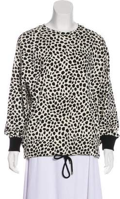 Chloé Animal Print Crew Neck Sweatshirt