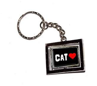 Generic Cat Love Red Heart New Keychain Ring