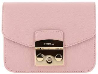 Furla Mini Bag Metropolis Mini Bag In Textured Leather With Shoulder Strap
