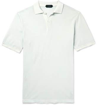 Incotex Slim-Fit Garment-Dyed Cotton-Piqué Polo Shirt