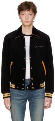 Saint Laurent Black Je Taime Teddy Jacket