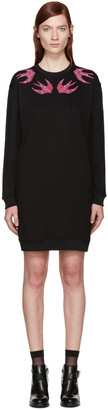 McQ Alexander Mcqueen Black Swallows Dress $450 thestylecure.com