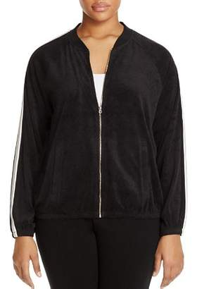 Juicy Couture Black Label Plus Microterry Stripe Track Jacket - 100% Exclusive