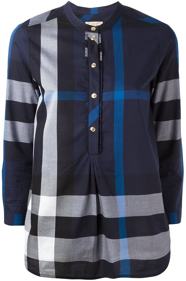 Burberry plaid blouse