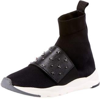 Balmain Cameron Studded Mesh Sneakers