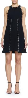 Proenza Schouler Embellished Crepe Shift Dress