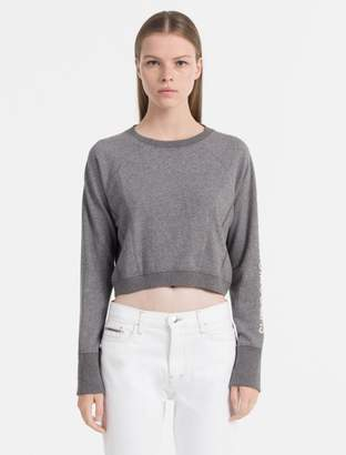 Calvin Klein cropped logo sweatshirt