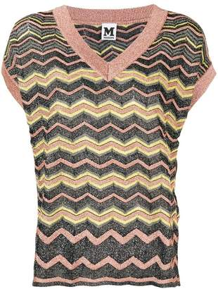 M Missoni zigzag metallic sheen blouse