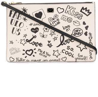 Dolce & Gabbana doodle clutch
