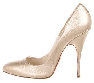Brian Atwood Metallic Pointed-Toe Pumps