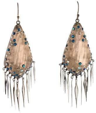 Alexis Bittar Lucite & Crystal Fringe Earrings