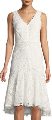 Taylor Zimmerman Sleeveless Lace High-Low Dress