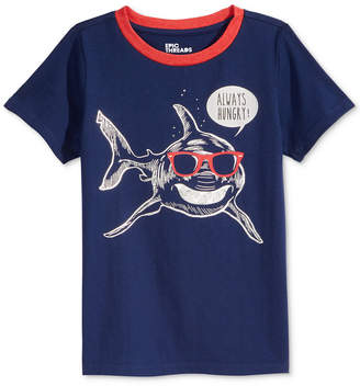 Epic Threads Shark-Print T-Shirt, Little Boys, Created for Macy's