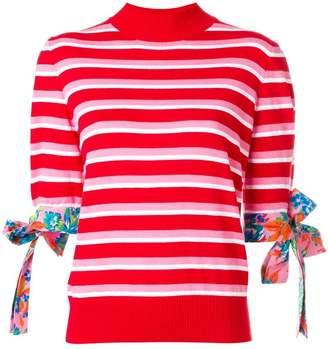 MSGM striped short sleeved jumper