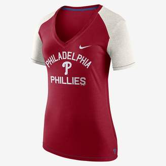 Nike Fan V (MLB Phillies) Women's Short Sleeve Top
