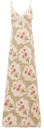 Brock Collection Onorino Floral Print Cotton Blend Gown - Womens - Beige Multi