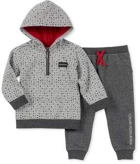 Calvin Klein Baby Boy's Two-Piece Hoodie Jogger Set
