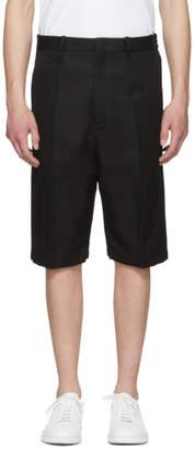 Neil Barrett Black Bi-Fabric Tailored Shorts