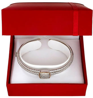 Lord & Taylor Diamond and 14K Yellow Gold Silvertone Bangle Bracelet $690 thestylecure.com