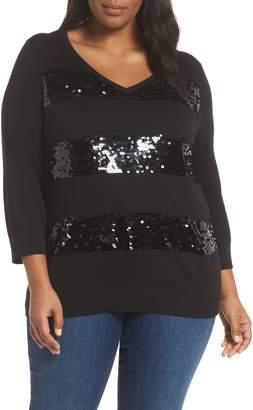 Sejour Sequin Stripe Pullover