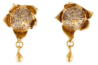 Eddie Borgo Pavé Rose Bud Stud Earrings