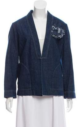 Brunello Cucinelli Denim Shawl Lapel Blazer