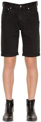Calvin Klein Jeans Slim Fit Logo Embroidered Denim Shorts