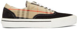 Burberry Beige and Black Wilson Sneakers