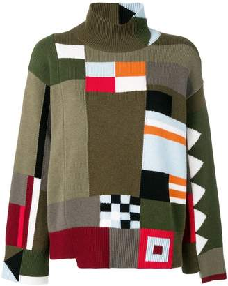 MRZ color block knitted sweater