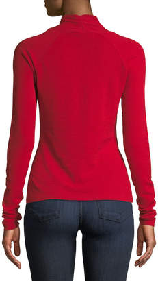 Milly Twist-Neck Pullover Sweater
