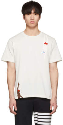 Thom Browne White Jersey Swimmers T-Shirt
