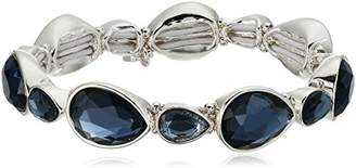 Nine West Silver-Tone and Stretch Bracelet