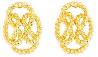 Givenchy Braided Clip-On Earrings