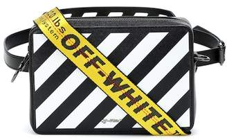 Off-White Diag leather shoulder bag