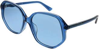 Gucci Women's Rectangular 56Mm Sunglasses