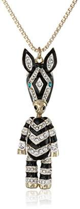 Betsey Johnson 3D Long Pendants 3D Zebra Long Pendant Necklace