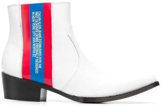 Calvin Klein Jeans Est. 1978 side striped boots