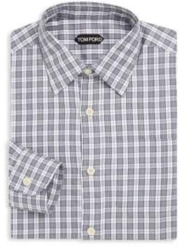 Tom Ford Plaid Cotton Dress Shirt