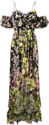 Dundas lace-up bodice ruffle front dress