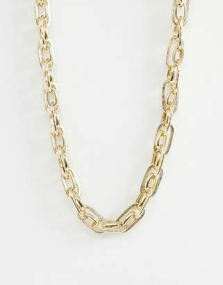 Warehouse chunky chain necklace in gold
