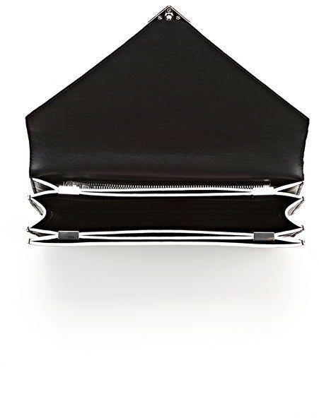 Alexander Wang Prisma Envelope In Black With Rhodium