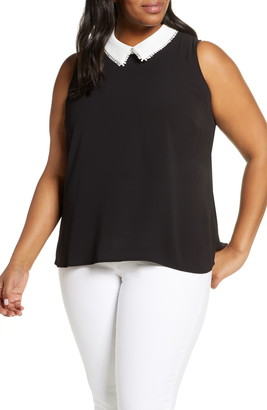 CeCe Collared Sleeveless Top