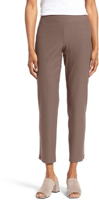 Eileen Fisher Stretch Crepe Slim Ankle Pants