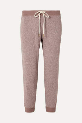 The Great The Cropped Jersey Track Pants - Pink
