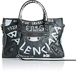 Balenciaga Women's Arena Leather Classic City Bag - Gray