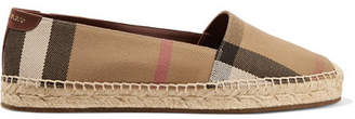 Burberry Hodgeson Checked Canvas Espadrilles - Light brown