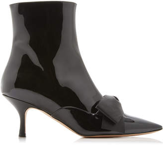 Rochas Patent Bow Booties