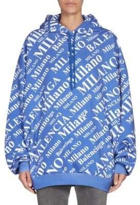 Balenciaga Milano Cotton Hoodie